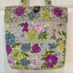 Very Bradley Toggle Tote in Watercolor Retired